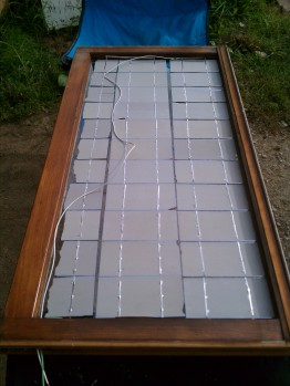DIY Solar Panel Wired