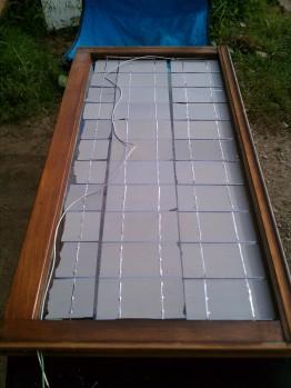 DIY Solar Panel Wired