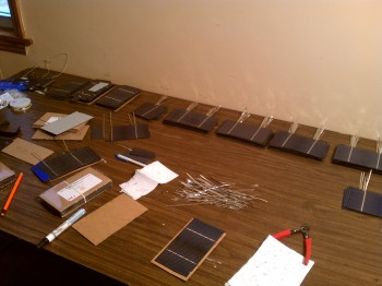 Solar Cells being Tabbed
