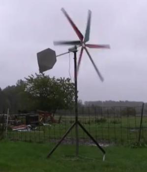 wind turbine working